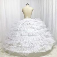 مصمم التنورة الداخلية الزفاف سبعة طبقة مع تول الصعبة للمنتفخ ثوب الزفاف 2018 لحضور حفل زفاف كبير لباس ثوب البخاخ