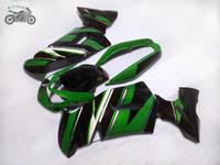 مجانا مخصص الصينية هدية مجموعة لكاوازاكي نينجا 650R 2006 2007 2008 خضراء نفطة ما بعد البيع السوداء-ER 6F هيكل السيارة ER6F ER 6F 650R