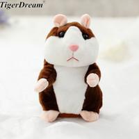 15 cm Schöne Sprechen Hamster Sprechen Sprechen Tonaufnahme Wiederholen Gefüllte Plüschtier Kawaii Hamster Eectric Spielzeug