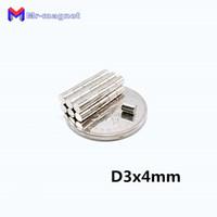 50 adet 3x4mm mıknatıs süper güçlü nadir toprak neodimyum mıknatıslar D3 * 4mm 3x4 disk Akıllı Oyuncak mıknatıs D3x4 3 * 4 Manyetik malzeme