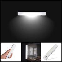 Sem fio COB Mudar LED Night Light Porch Lâmpada de parede para o quarto corredor armário de cozinha armário Luzes AAA com fita magnética