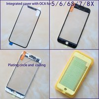 3-in-1 LCD Front Screen Glass+Bezel Frame+OCA For iPhone 6 6s 7 8 8plus outside glass Lens repair Replacement