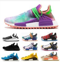 2019 Course humaine PW Chaussures de course NERD Hu Pharrell Williams Accueil venant solaire PacK Aqua Afro Hommes Femmes Designer Sneakers Chaussures Taille 36-45