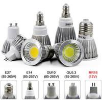 Led ışıklar 9 W 12W 15W COB GU10 GU5.3 E27 E14 MR16 Dim LED Spor ışık lamba Yüksek Güç ampul DC12V AC 110V 220V ampuller lambalar