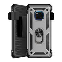 Pour LG K51 Stylo6 5 K40 K10 K50 Q60 Aristo 4 3 2 Avec Holster Clip ceinture Béquille Anneau chute absorption des chocs Phone Case Cover