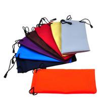 Lunettes de soleil de haute qualité Sac pochette de rangement avec Sunglass Sacs corde pour téléphone portable Montres Sac Bijoux