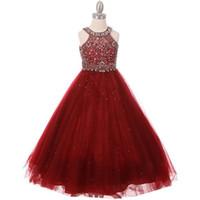 HI'LIAN Blumenmädchen Kleid Tanzparty Hochzeit Erwägungsgrund Formal Prom Geburtstag Kleid Prinzessin Kleid New Cute