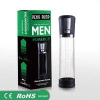 Elektrische Automatische Penispumpe USB Wiederaufladbare Penis-Vergrößerer Vakuumpumpe Leistungsstarke Penisvergrößerung Extender Sex Toys für Männer