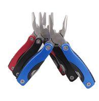Survival-Multi-Funktions-Zangen Mini Folding Zangen mit Schraubendreher Filer Messer Dosenöffner Outdoor Equipment Handwerkzeug Zangen Klappmesser