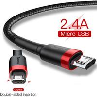 양면 삽입 마이크로 USB 케이블 2.4A 빠른 삼성 J7 Redmi 주 5 프로 안드로이드 전화의 USB 마이크로 케이블 충전기 데이터 코드에 대한 충전