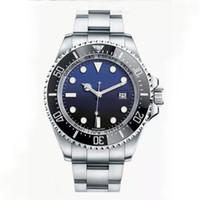 НОВЕЙШИЕ Мужские часы SEA-DWELLER керамический ободок 44мм из нержавеющей стали 126660 Автоматический синий / черный циферблат Cameron Diver Мужские часы Наручные часы