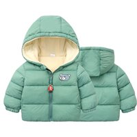 2019 Kinder Oberbekleidung Junge und Mädchen Winter Warme Mit Kapuze Mantel Kinder Baumwolle-gepolsterte Daunenjacke Kid Jacken 1-6YEARS