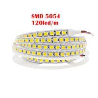 UMLight1688 SMD 5054 LED 스트립 60LED 120 LED 유연한 테이프 라이트 600LEDS 5M / 롤 DC12V 5050 2835 5630 차가운 화이트