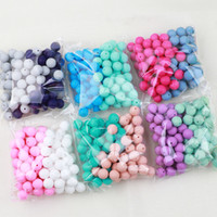 TYRY.HU 100pc silicone Perline 15mm Newborn dentizione Massaggiagengive Accessori Pacifier clip dentizione borda la collana alimentari Silicon CJ191115