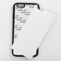 Mobiltelefon tillbehör med aluminiumplattor 2D DIY Sublimationsvärme Tryck på PC Phone Case till iPhone X XS max XR 8 7 6