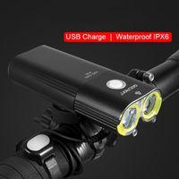 GACIRON الدراجة الخفيفة USB قابلة للشحن الدراجة الجبهة العلوي الدراجات IPX6 ماء 5000mAh قوة 1600Lumen LED مصباح 6 الوضع