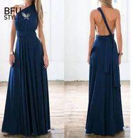 Eagant Parti Maxi Uzun Elbise Kadınlar Multiway Wrap Elbiseler Degrade Cabrio Boho Bandaj Elbise Nedime Infinity Robe