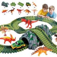 Dinozor Yüzyıl Parkı Roller Coaster Modeli Yapı Taşları Tuğla Playgame Oyuncaklar Çocuklar Için