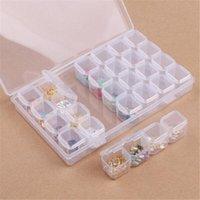 28 Rejillas Diamante Pintura kits de plástico caja de almacenamiento del arte del clavo del Rhinestone Beads Herramientas de almacenamiento caja de la caja del sostenedor del organizador Kit B040