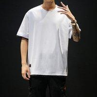 Camicia Moda Pathchwork manica corta T maglietta dei nuovi uomini di estate Mens Abbigliamento Trend slim fit casuale o collo T superiori Uomini M-5XL CX200617