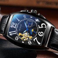 EWOR Tourbillon Automatic Mechanical Men Designer Moonphase ...