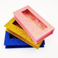새로운 10 / 20 / 40pcs 도매 사각형 가짜 속눈썹 포장 상자 가짜 3D 밍크 속눈썹 상자 가짜 CILs 마그네틱 케이스 비어있는