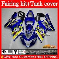 Cuerpo + tanque para SUZUKI GSX R750 Movistar Azul GSXR600 GSXR600 600cc 04 05 66HC.15 GSXR750 GSXR 750 K4 600 CC 750CC GSXR750 2004 2005 carenado