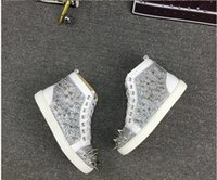 New men women gold spike with gold snakeskin leather high to...