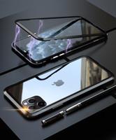 Cassa ibrida magnetica adsorbimento metallo, vetro temperato per iPhone 11 Pro Max XS Max XR X XS 8 Plus 7 6 6S più
