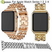 시계 밴드 스테인레스 스틸 링크 팔찌 Apple 시계 용 밴드 42 38mm 40 44 mm 시계 밴드 iwatch 시리즈 용 4/3/2/1 액세서리