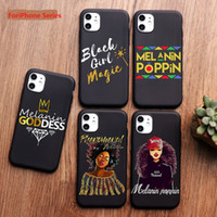 Afro Black Girl magique Reine Mélanine Poppin Phone Case pour iPhone 11 PRO MAX XS MAX XR X 6 6S 8 7 plus TPU couverture en silicone