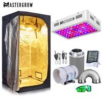 성장 텐트 방 완전 키트 수경 성장 시스템 1000W LED 성장 + 4 / 6 탄소 필터 콤보 다중 크기 어두운 방