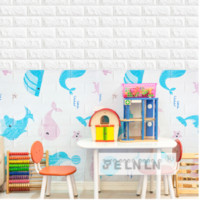 77*70cm Brick Pattern Children' s Room Wallpaper Self- ad...