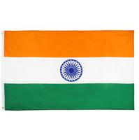 قدم 3X5 العلم 90x150cm البوليستر الطباعة الهندية في دائرة الهجرة والجنسية الهند العلم أعلام البلد الوطنية راية في الأماكن المغلقة في الهواء الطلق استخدام مع رخيصة الثمن