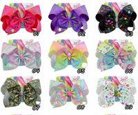 INS mignon 8 pouces arcs cheveux fille Lolita Barrettes cheveux bowknot enfants filles JOJO Siwa Accessoires cheveux
