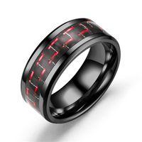 Carbon Fiber Ring Black Обручальное кольцо конструктора Кольца Кольца Promise помолвки для ювелирных изделий Мужчины Женщины Любовь Мода