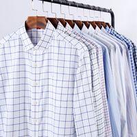 NIGRITY 2019 Männer Casual Langarm kariertes hemd Slim Fit Männlichen Oxford Textil Business Kleid Hemd Marke Männer Kleidung Größe S-5XL