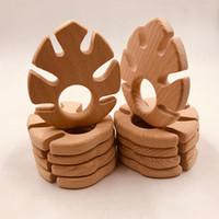 10PCS Teether DIY 간호 펜던트 젖니 장난감 바나나 잎 모양 식품 학년 재료 유기농 선물 아기 치아 발육기를 씹어 서