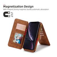 Telefon-Kasten für iPhone6 / 6Splus, iPhone7 / 8plus Fall-Schlag-Leder-Luxus-Abdeckung für iPhone Fall-Mappen-magnetische Abdeckung Standplatz