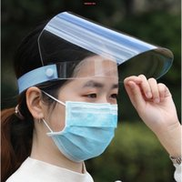 Viso Safety Shield Anti Saliva Full Face Mask Anti Fog Transparent Chef maschera protettiva Cap sicurezza Spit Shield Mask Unisex X42FZ