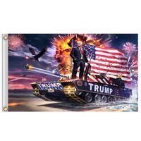 90 개 * 150cm 트럼프 탱크 깃발 계속 미국의 위대한 깃발 트럼프 배너 깃발 2020 대통령 캠페인 지원 트럼프 배너 플래그 A03