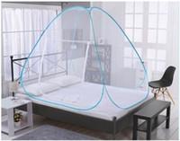 HOT 패션 휴대용 무료 설치 팝업 캠핑 텐트 침대 캐노피 모기장 트윈 전체 퀸 킹 사이즈