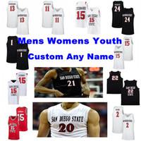 San Diego State Aztecs Trikots Keshad Johnson Jersey Adam Seiko Aguek Arop Pulliam Wetzell College Basketball Trikots Mens Custom genähtes