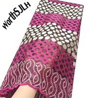 Aso Ebi New African Lace Fabric Of 2018 Pink Green Guipure L...