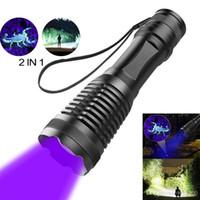 2 in 1 uv taschenlampe led taktische taschenlampe 395nm detektoren für carpet pet urin fangen skorpione camping wandern angeln