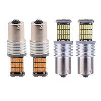 10 قطعة / الوحدة 1156 / ba15s p21w في canbus أدى 4014 45 smd 45smd أضواء drl سيارة أدى بدوره اشارات الضوء 1157 / bay15d 3156 3157 7440 7443