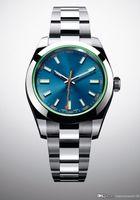 O relógio clássico feito pelo topo mestre MILGAUSSm116400 mecanismo automático 40 milímetros de aço inoxidável relógio dos homens da moda