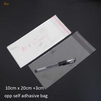 300ピースクリア再販可能なBOPP /ポリ/セロハンバッグ10x23cm 9x24cm透明なoppギフトバッグプラスチック包装自己粘着シール