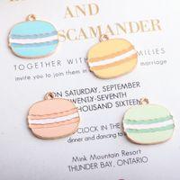 Lebensmittel Hamburger Emaille-Gold überzogen Farbe Charme-Anhänger für handgemachte Diy Ohrring-Halskette Schlüsselanhänger-Armband Schmuck Accessoires machen