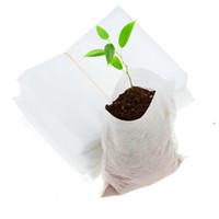 식물 성장 가방 8 * 10cm 모종 냄비 생분해 성이 아닌 보육 가방 홈 정원 공급 100pcs / 세트 OOA7897